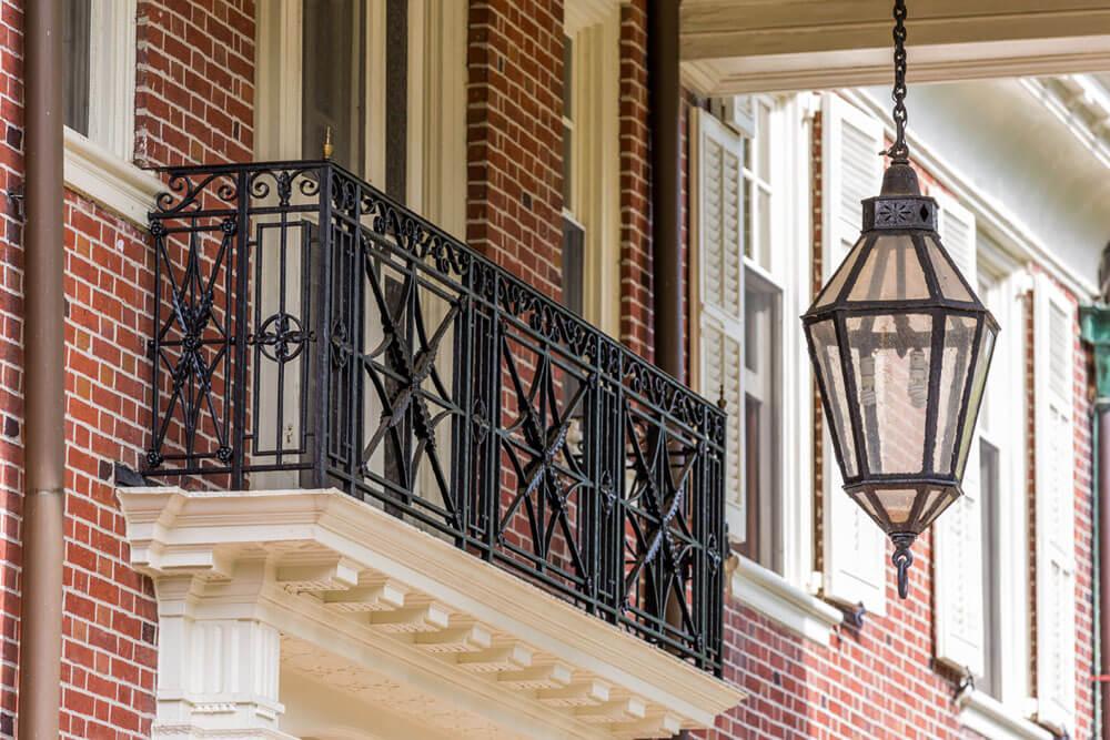 Restored Iron Balcony Railing