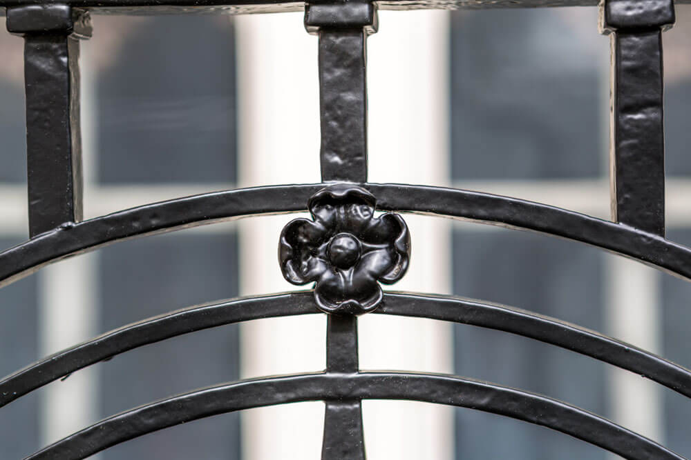Rosette Detail on Restored Balcony Railing