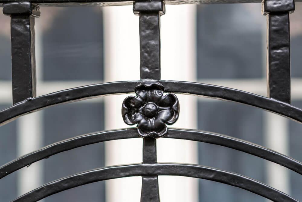Rosette Detail on Restored Balcony Railing