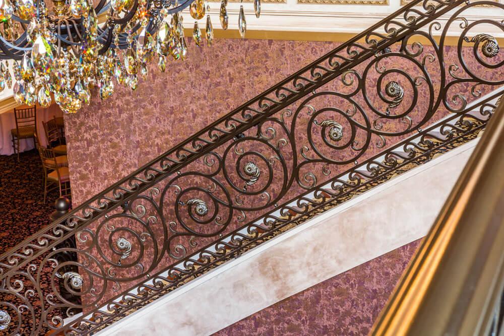 Custom Forged Decorative Iron Railing