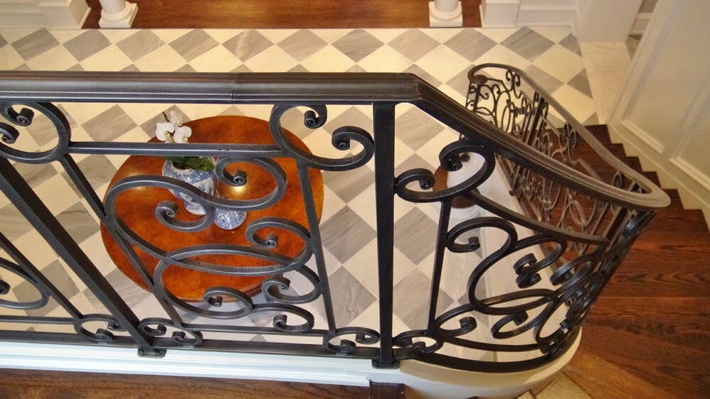 Forged Iron Stair Railing Design