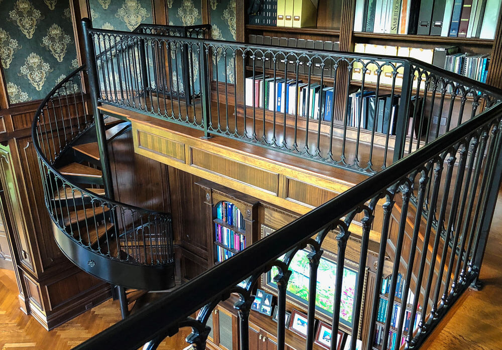 Library Railing and Spiral Stair