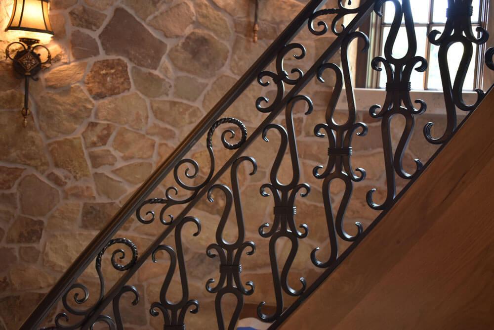 Custom Samuel Yellin Inspired Stair Railing Design