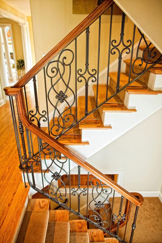 Custom Classical Interior Stair Railing