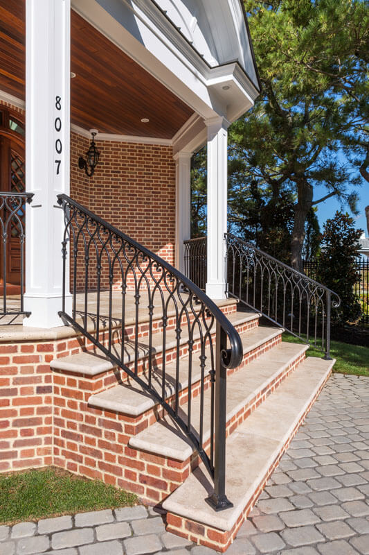 Custom Heart Scroll Stair Railing