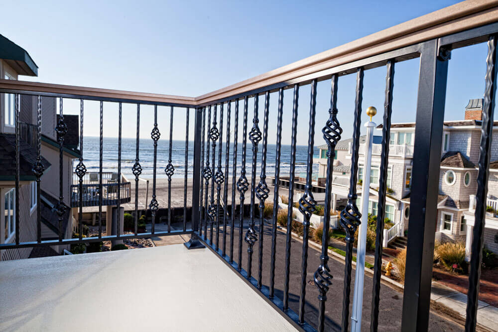 Balcony Railing Overlook the Beach