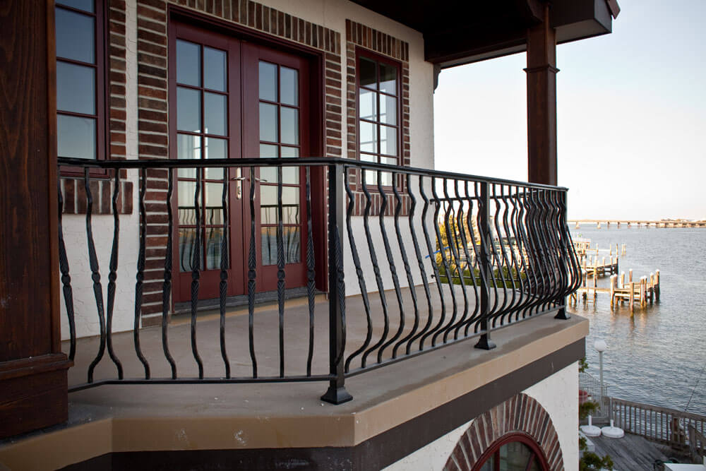 Forged Detail on Belly Railing