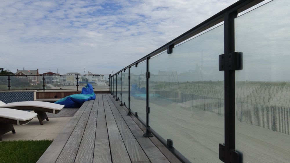 Glass Railing on an Ocean Front Property in NJ