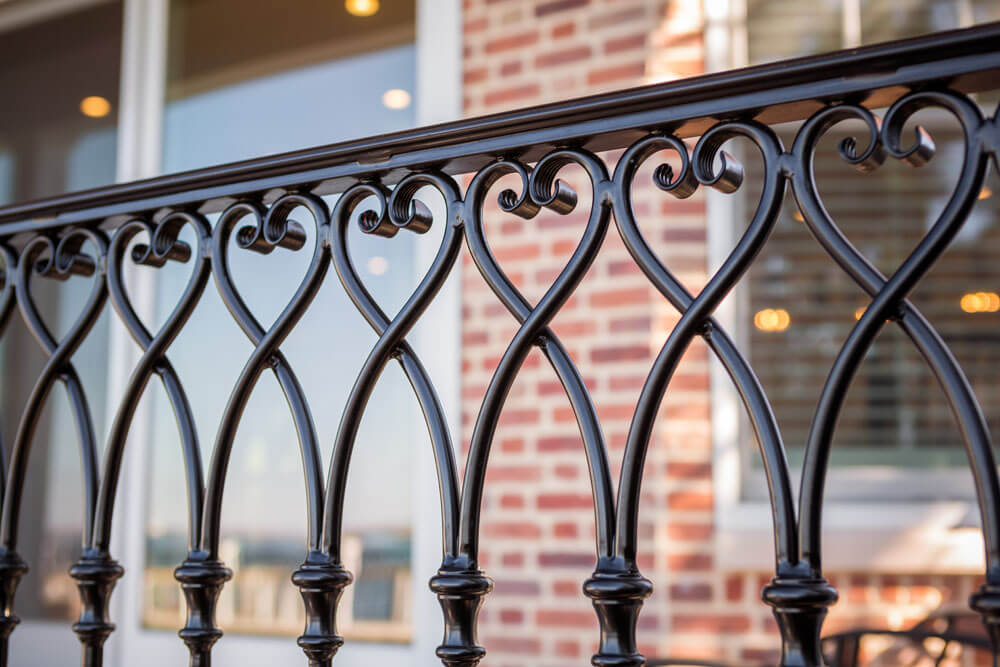 Aluminum Heart Design Railing