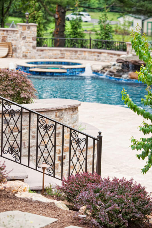 Elegant Railing Design with Petite Post Ball Cap