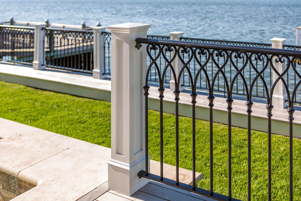 Aluminum Railing Design On Water Front