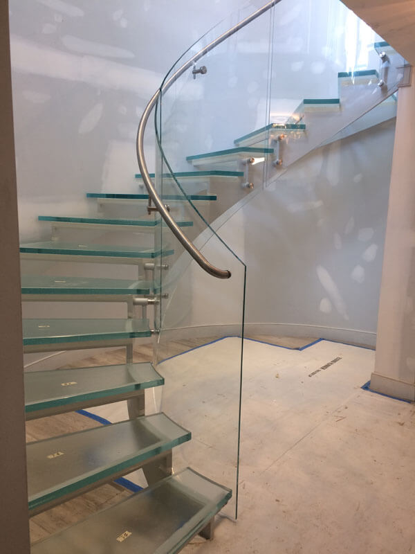 Stainless Railing on Glass Stair