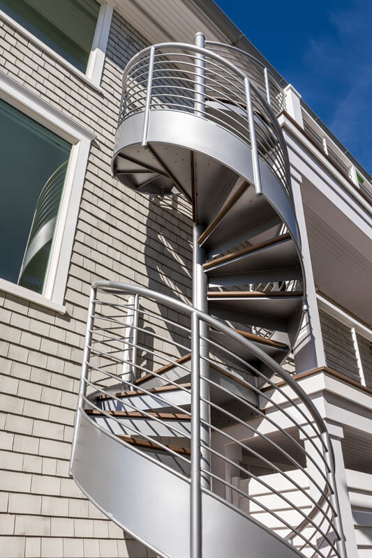 Custom Sprial Stair on Shore front Property